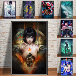 Ghost In The Shell Fight Police Anime Posters And Prints Canvas Painting Pictures Wall Art Abstract Decorative Home Decor Quadro