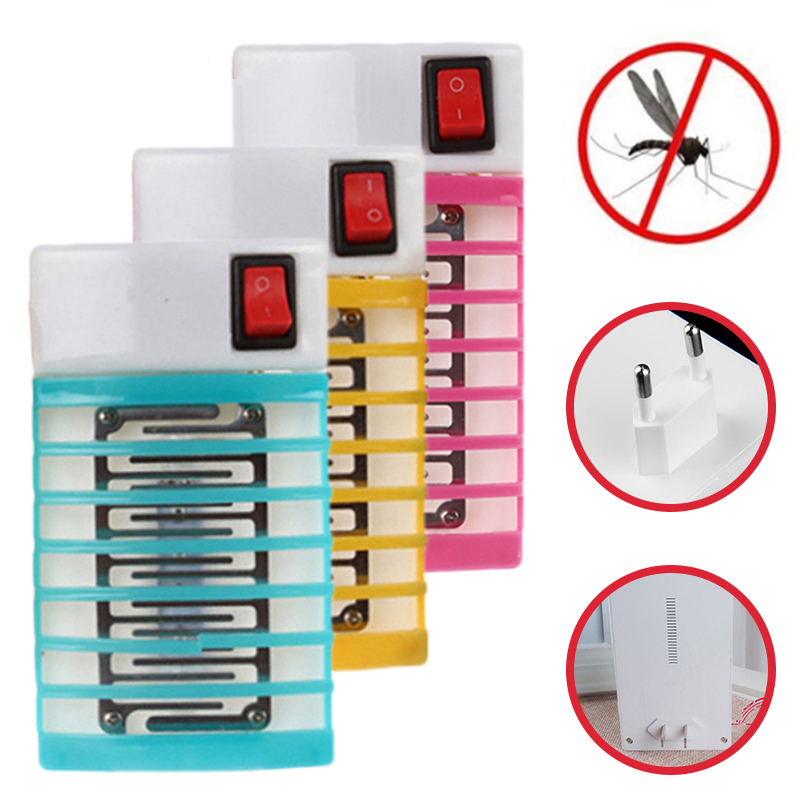 1Pcs 220V EU Socket Electric Mini Mosquito Lamp LED Insect Mosquito Repeller Killing Fly Bug Insect Trap Killer Night Lamp Light