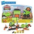هاسبرو Play-Doh عجلات الحصى ساحة لعبة البناء مع اللعب غير سامة Doh الرصيف البناء مجمع زائد 3 ألوان إضافية