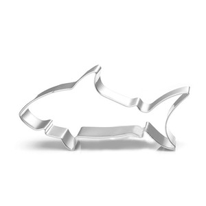 TTLIFE Shark Cookie Press Cutters Craft Tools Cake Decoration Stainless Steel Biscuit Moulds Fondant Mold Kitchen Baking Gadget