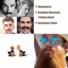 2Pcs/Set Handlebar Moustache Training Wheels for Men Salon Mustache Styling Template Beard Shaping Trimming Tool