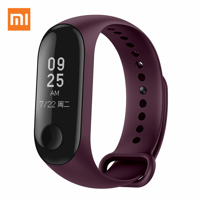 Xiao mi mi bande 3 Bracelet intelligent Bracelet de remise en forme mi bande OLED 0.78 pouces grand écran fréquence cardiaque 5ATM étanche Bluetooth Smartband - 4