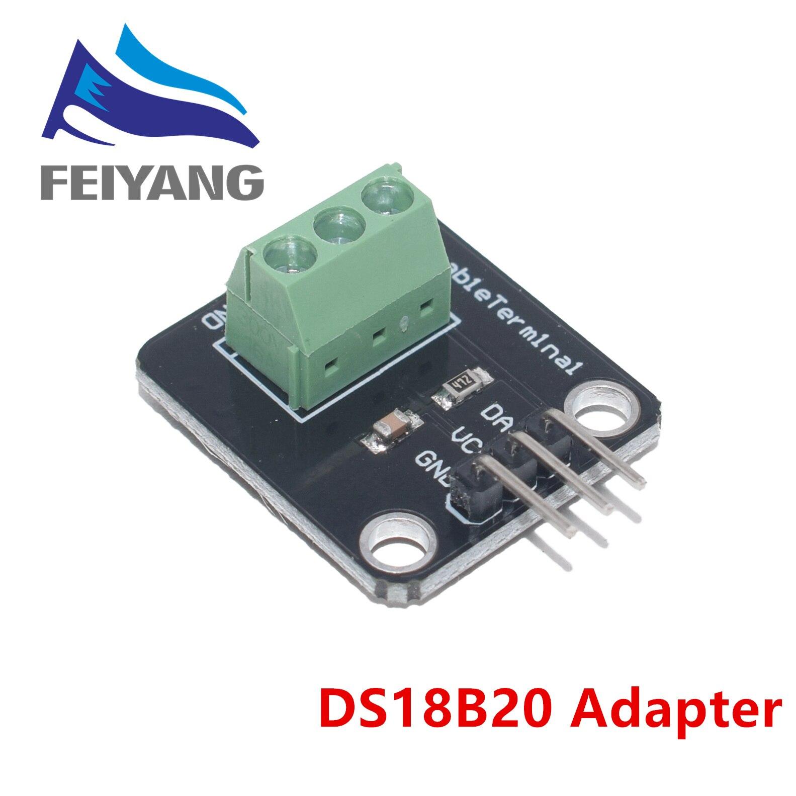 DS18B20 Температурный датчик модуль комплект водонепроницаемый 100 см цифровой датчик кабель из нержавеющей стали зонд терминал адаптер для ...