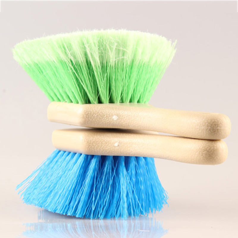 1Pcs New Hard Hair Soft Scratch-Free Wheel/Tire Brush Short Handle Special Design Brushes for Clean Car Tires and Carpets