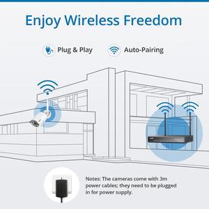 Image 2 - CAMERA SANNCE 8CH Wireless NVR Sistema CCTV 1080P IP WIFI Della Macchina Fotografica Resistente Allintemperie di IR Notte Vison CCTV di Sicurezza Domestica di Sorveglianza Della Macchina Fotografica kit