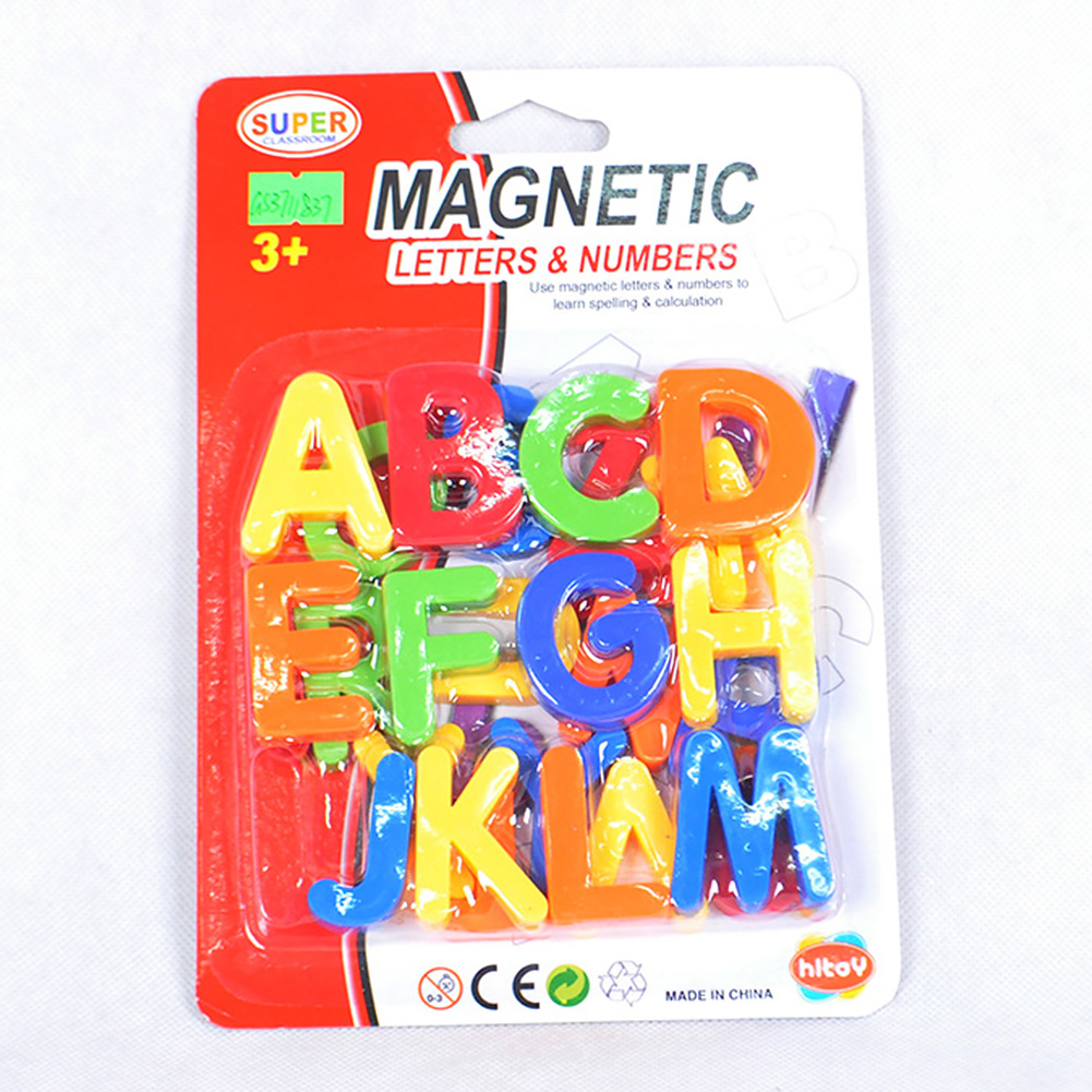 3D Kids Letters And Numbers Magnetic Toy Fridge Magnets Early Education Stickers Plastic Teaching Alphabet Learning Whiteboard