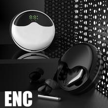 Nieuwe Enc Draadloze Hoofdtelefoon Bluetooth V5.1 Oortelefoon Rotary Opening Sport Oordopjes Gaming Headset Touch Control Met Mic Voor Telefoon