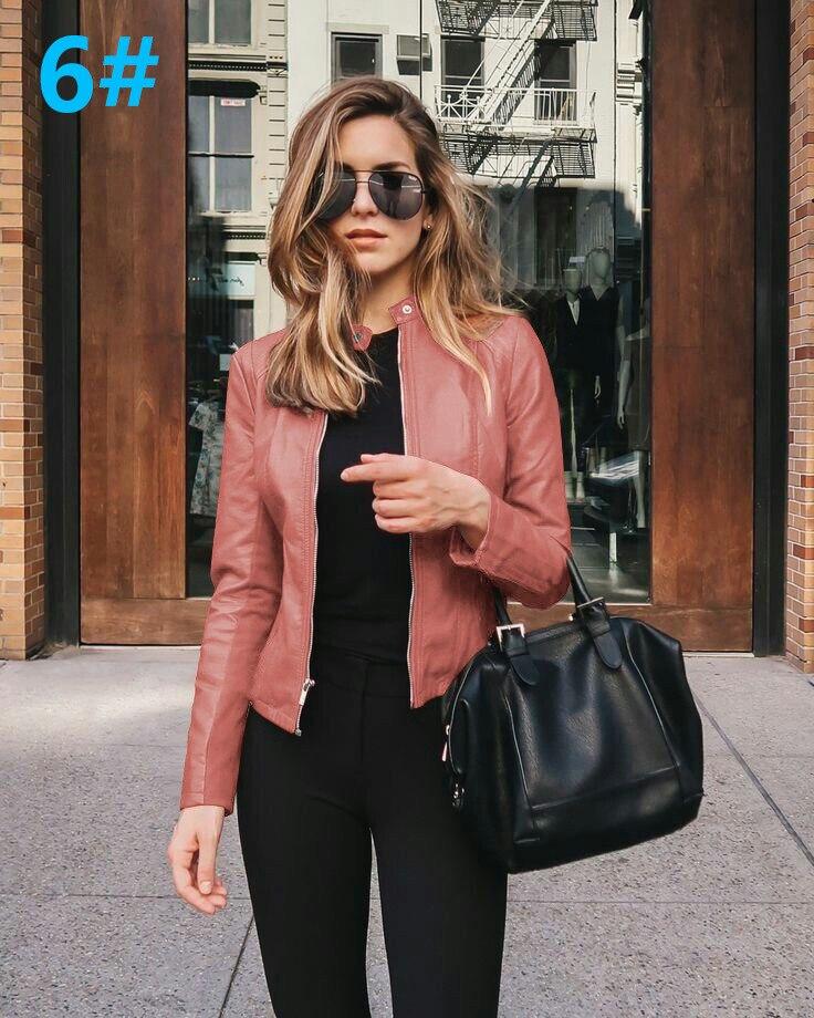 Hc7f64d3095f744e989f4a3842bfcc0c2w 2021 Women Winter Coat Jacket Thicken Fashion Long sleeve Outwear PU Leather Jacket warm Coats For Women Autumn Women's Clothing