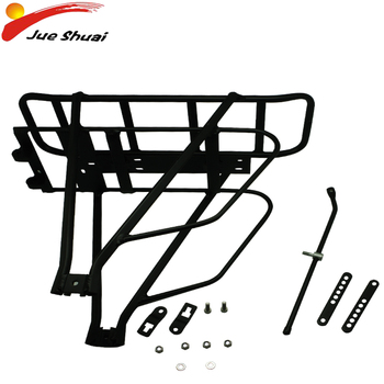 """Bicycle Luggage Carrier Rear Rack Double Layer luggage rack Shelf Adjustable for20'' 26"""" 700C Bikes Electric Bike Ebike Battery"""