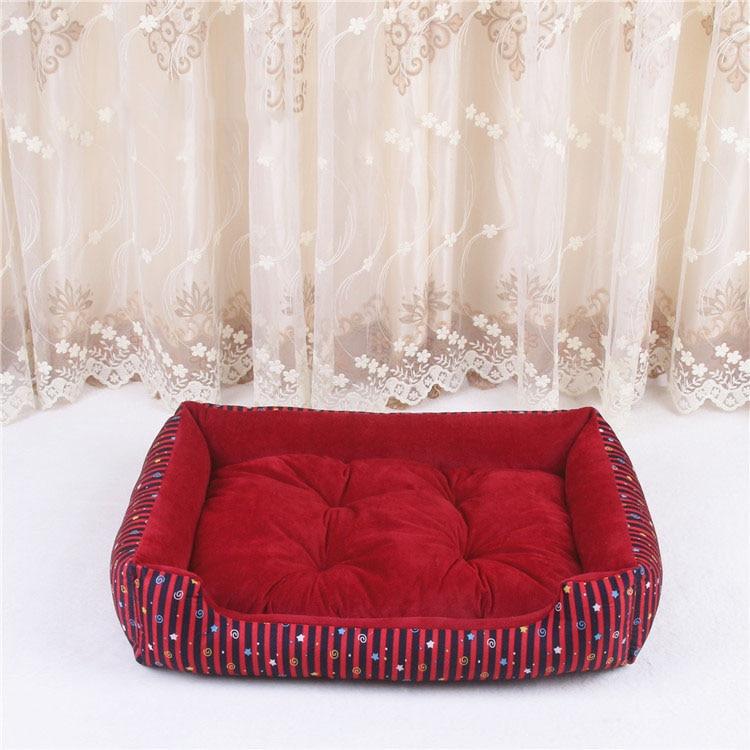 baby soft large Pet Dog Bed Cat kennel Warm Cozy Dog House Soft Fleece Nest Dog Baskets Mat Autumn Winter Waterproof Kennel 7