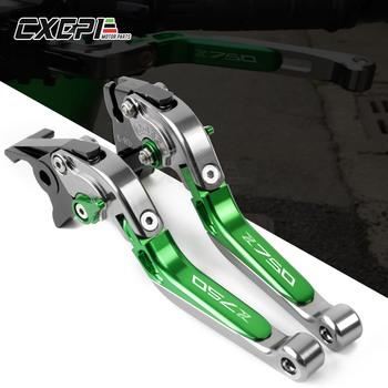 LOGO Z750 For KAWASAKI Z750 Z 750 2007 2008 2009 2010 2011 2012 Motorcycle CNC Aluminum Accessories Brakes Clutch Levers Handle maikai motorcycle accessories for kawasaki z750 z 750 2004 2012 cnc aluminum alloy widened pedals