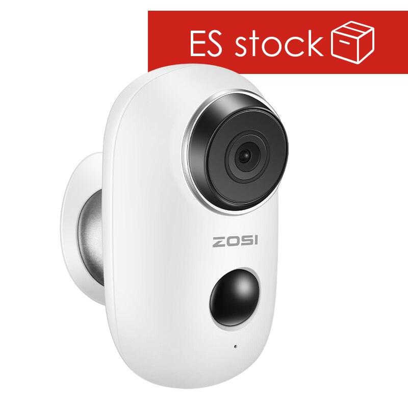 ZOSI 100% batterie sans fil caméra IP WiFi Rechargeable batterie alimentée 720 P/1080 P Full HD caméra IP de sécurité sans fil extérieure
