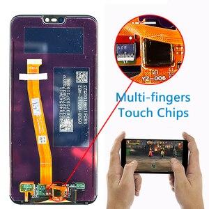 Image 2 - 10 タッチ Huawei 社 P20 Lite Lcd ディスプレイタッチスクリーン Dizigiter アセンブリフレーム Huawei 社 P20 Lite ANE LX1 ANE LX3 ノヴァ 3e 液晶