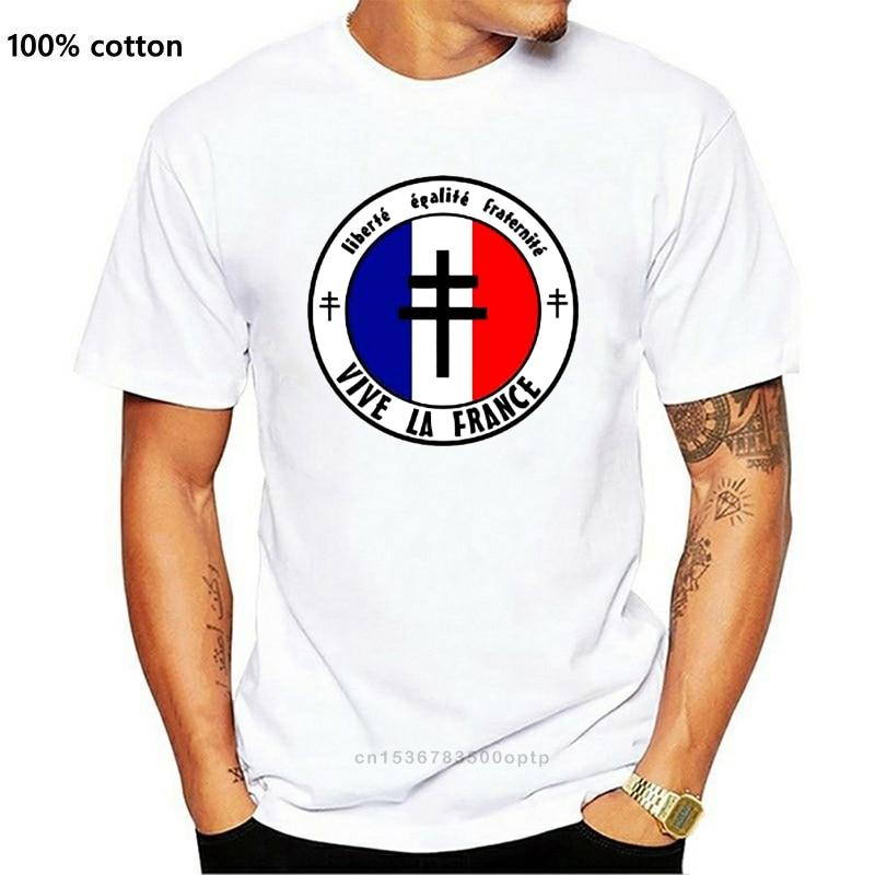France Libre - Freedom Equality Fraternity - Dispo Du S Au 3Xl Ffi Homme 2019 New Man Short Sleeve Cotton Tees Tops Shirt Design