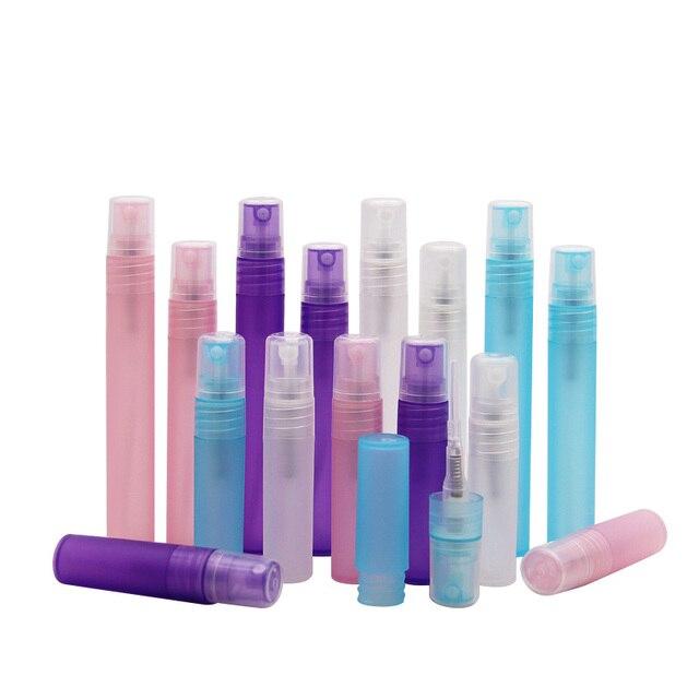 50pcs 3ml 5ml 8ml 10ml vide petite translucide en plastique vaporisateur bouteille maquillage parfum atomiseur rechargeable bouteille vaporisateur