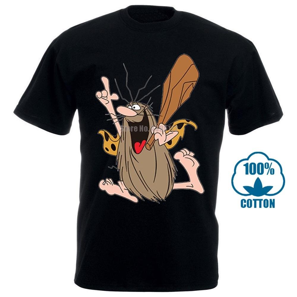 Print T Shirt Fashion Captain Caveman Cartoon Classic Design T Shirt Male Fashion Cool Tops Hipster Printed Summer Tees