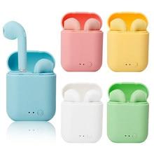 Auriculares i7Mini con TWS, inalámbricos por Bluetooth 5,0, auriculares mate con caja de carga para xiaomi y iphone