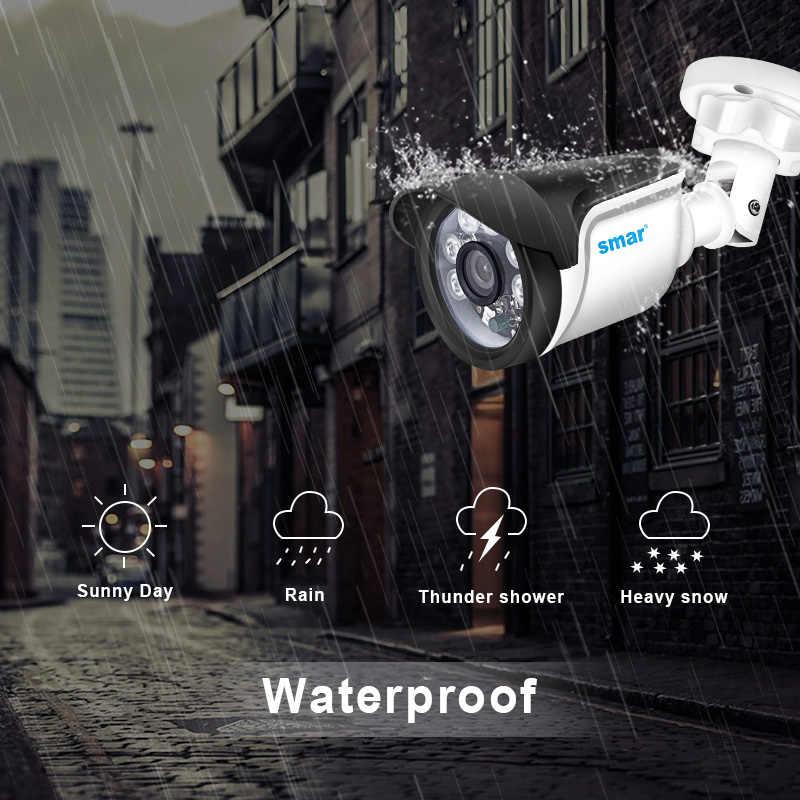 Smar 4CH CCTV wideorejestrator hdmi 4 sztuk 720P 1080P kamera ahd zestaw na zewnątrz odporne na warunki atmosferyczne system alarmowy do domu wideo zestaw do nadzorowania soczewki hd