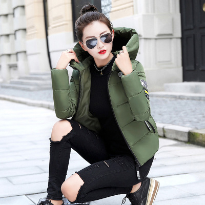 Image 5 - KULAZOPPER New 2019 Winter hot down cotton women's short hooded  jackets ZH084-in Parkas from Women's Clothing
