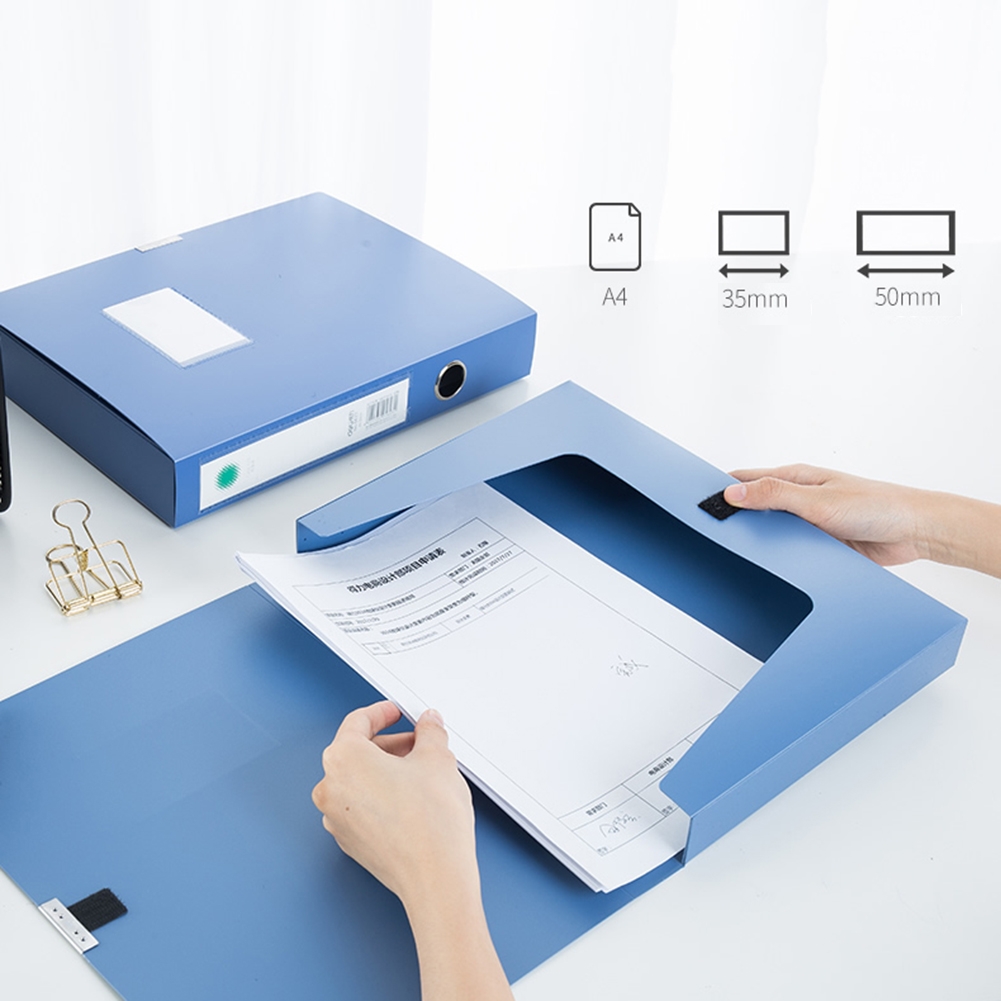Portable A4 Document File Box 3.5cm Storage Bag Files Folder Lightweight Business Organizer File Box For Offices And Schools