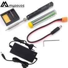 TS100 Oscilloscoop Elektrische Soldeerbout Usb Mini Interne Verwarming Soldeerstation Intelligente Numerieke Controle Adapter Tip