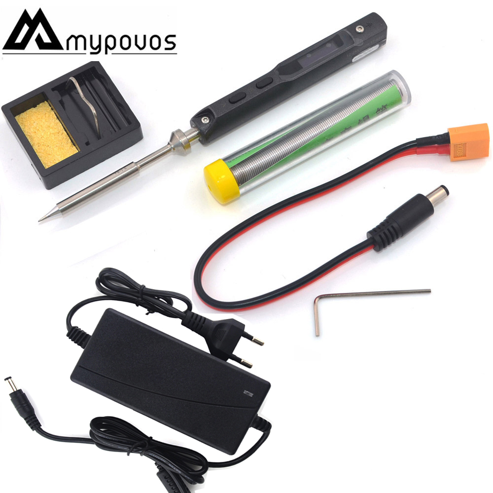 TS100 Oscilloscope Electric Soldering Iron USB Mini Internal-heating Soldering Station Intelligent Numerical Control Adapter tip