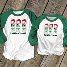 Santa Claws Tees Women Christmas Party Shirts