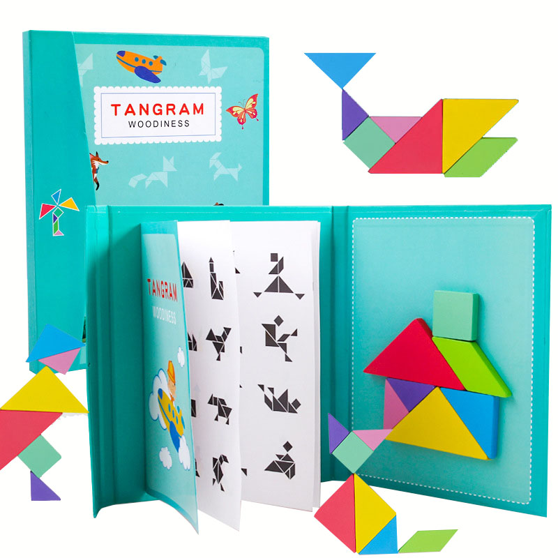 New Kids Magnetic 3D Puzzle Jigsaw Tangram Thinking Training Game Baby Montessori Learning