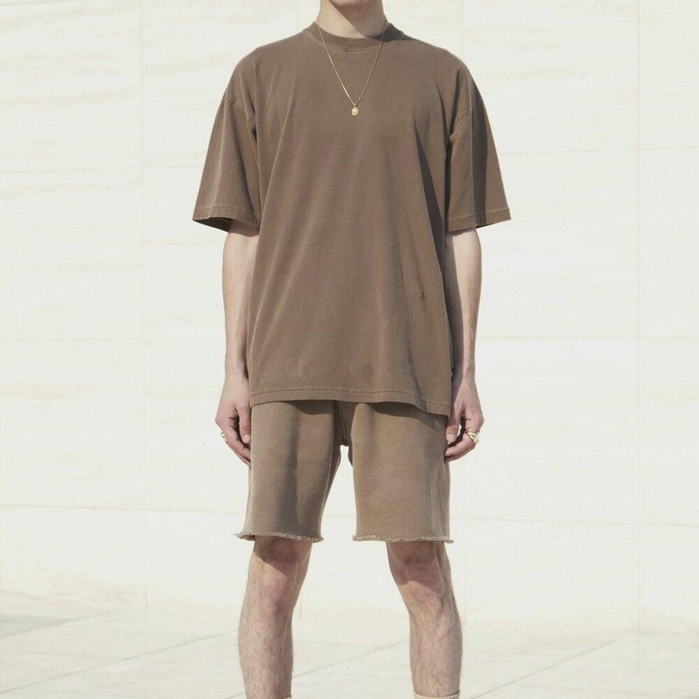 Best Version Heavy Cotton Fleece Sweat Shorts Vintage Grey Wide Leg Casual Streetwear Zipped Pockets