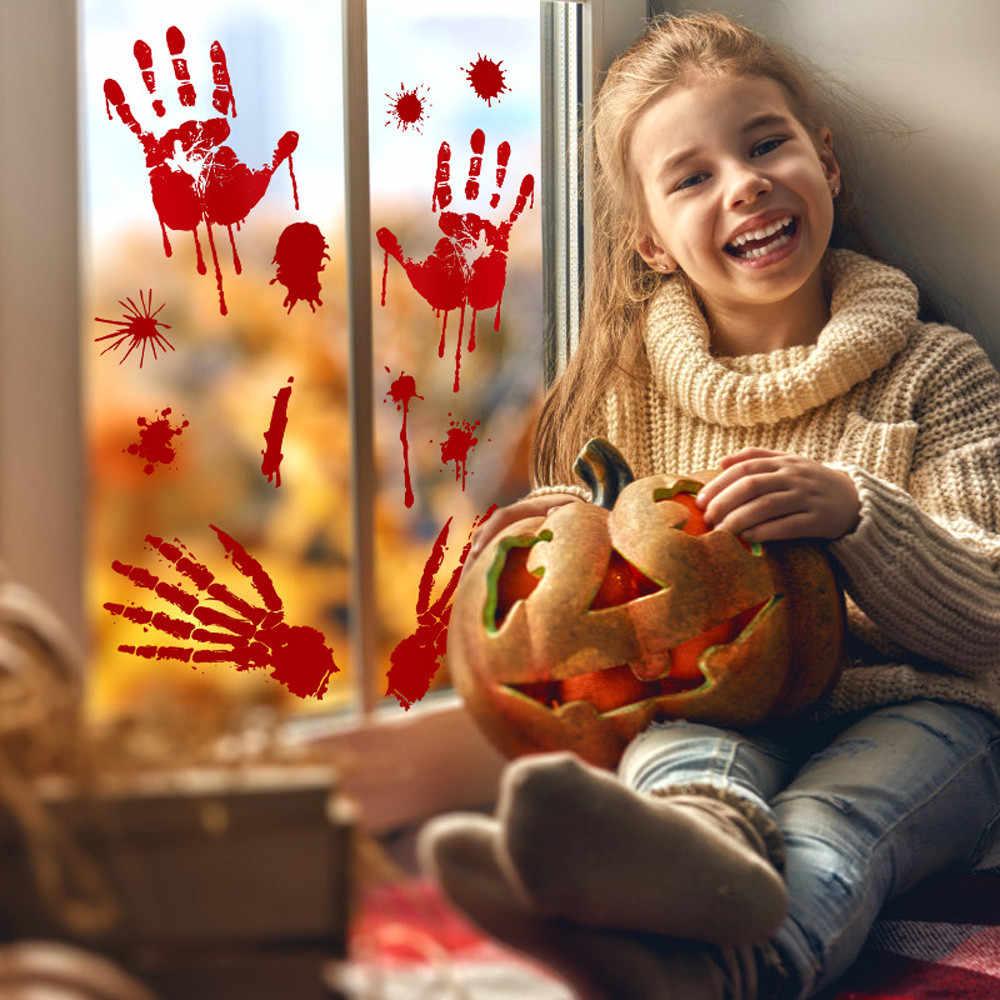 Halloween huellas de sangre piso de pared pegatinas se aferra zombi vampiro fiesta decoración pegatinas Casa Club de Niños de etiqueta