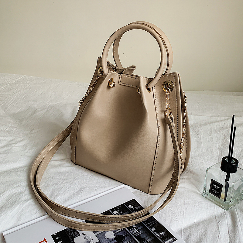 с доставкой PU Leather Drawstring Bucket Bag Lady Crossbody Bags Women 2020 Solid Color Shoulder Handbags Female Cross Body Bag
