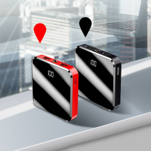 Mini Power Bank 20000mah Mirror Screen Portable Charger