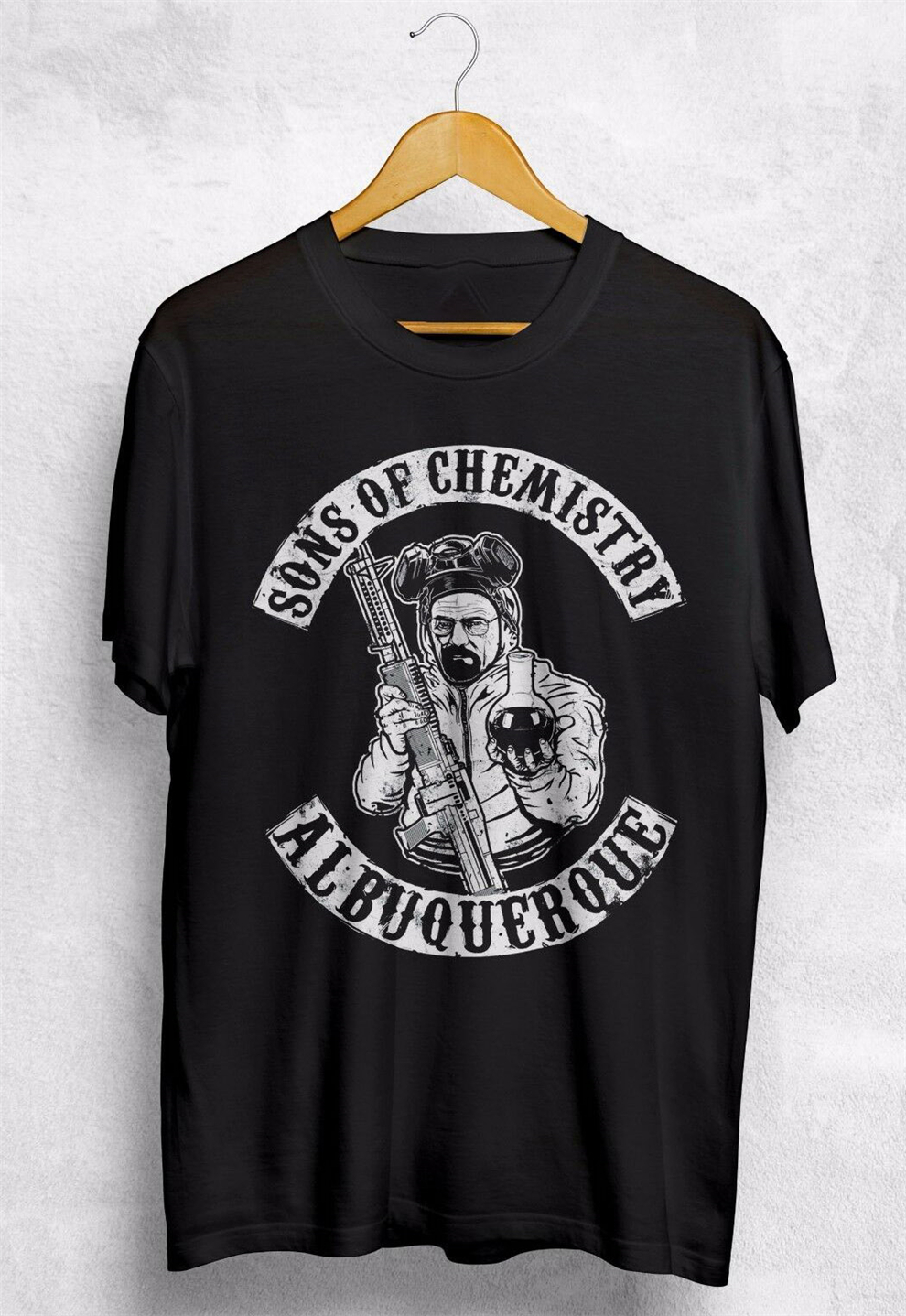 Heisenberg Sons Of Chemistry Anarchy T Shirt Breaking Bad Walter White Science New Trends Tee Shirt image