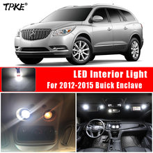 Tpke 13x xenon branco smd led interior luzes kit para 2012-2015 buick enclave mapa cúpula tronco luz da placa de licença