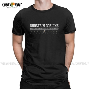 Novelty Ghosts 'N Goblins T-Shirts Men Round Neck Cotton T Shirts Ghouls 'n Daimakaimura Arcade Games Tees Graphic Tops - discount item  40% OFF Tops & Tees