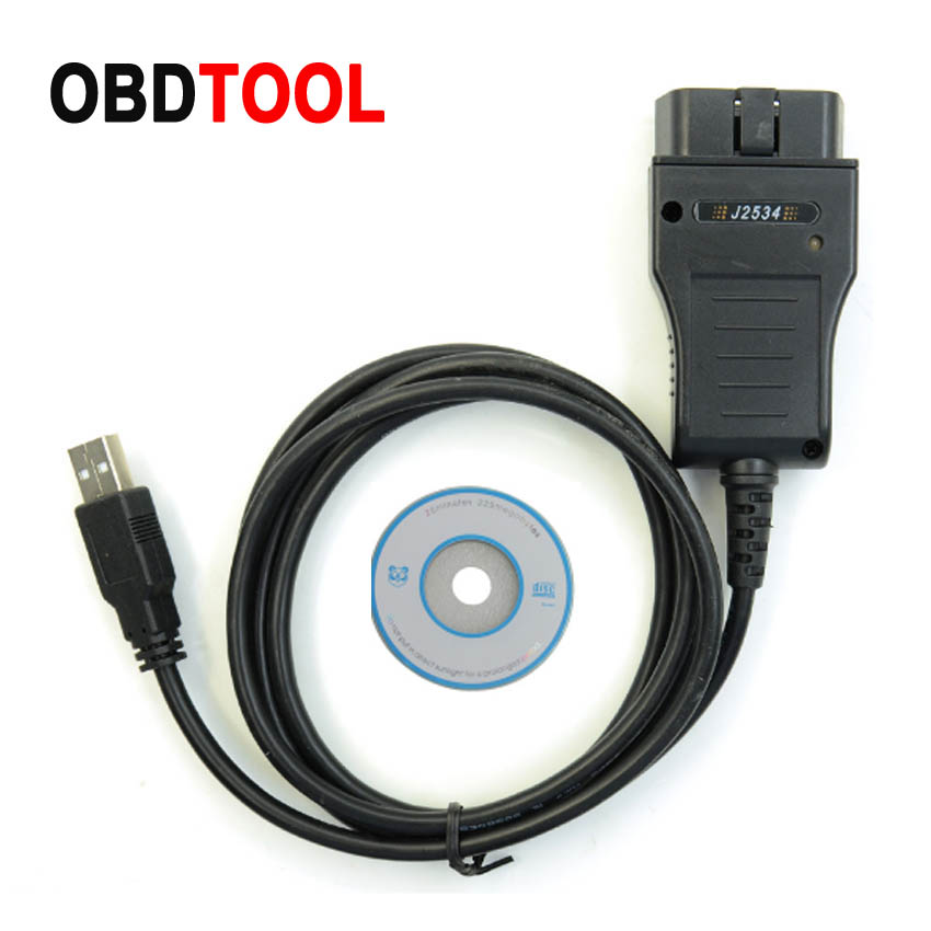 HDS J2534 V3.016 For HONDA Cars Standard Obd2 Communication 16pin Cable With Multi Langauge Supports Diagnostics And Active Test