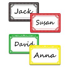Hello my name is name tag stationery sticker is very suitable for kids, employees, professionals, color school office stickers how monkey says my name is