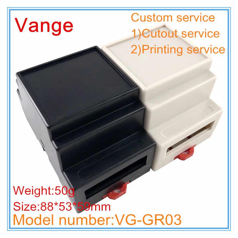 1 Buah/Banyak Sensor Listrik Outlet Box 88*53*59 Mm Plastik ABS Junction Box Perumahan Diy untuk Guide rel Elektronik PCB