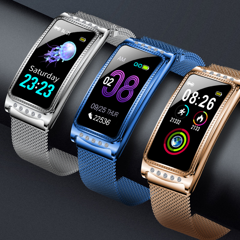 F28 Women Smart watch Blood Pressure Measurement Sports Bracelet Fashion Fitness Tracker Health Wristband For Android And IOS image