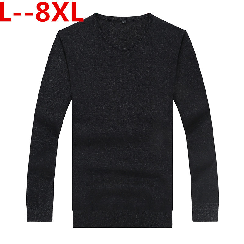 Plus 8XL 6XL 5XL Cotton Sweaters Men Best Style O Neck Mens Sweaters Brand Jersey Pullover Male Autumn Winter 4XL Knitwear Dress