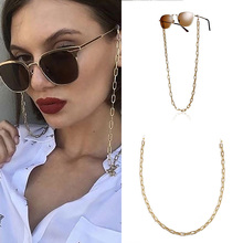 Golden Glasses Hanging Chain Women Sunglasses Chain Glasses Rope U Type Metal Chain Holder Neck Cord