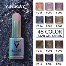 VINIMAY Bling Glitter Gel Polish Nagel Gel Lack UV Tränken Weg Von Gellak Gelpolish Nail art Design Primer Maniküre Nägel Gel lacque(China)