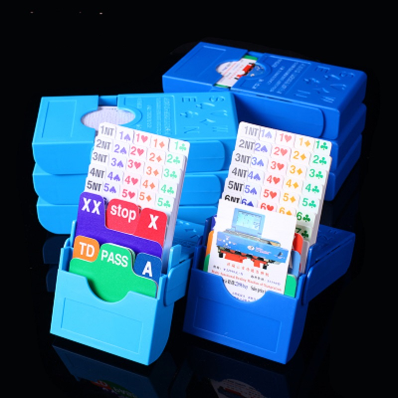 Classic 14-LJPH Professional Bidding Box Paper Playing Card Vertical Bid Box Contract Bridge Cards US Bridge ABS Bid Box