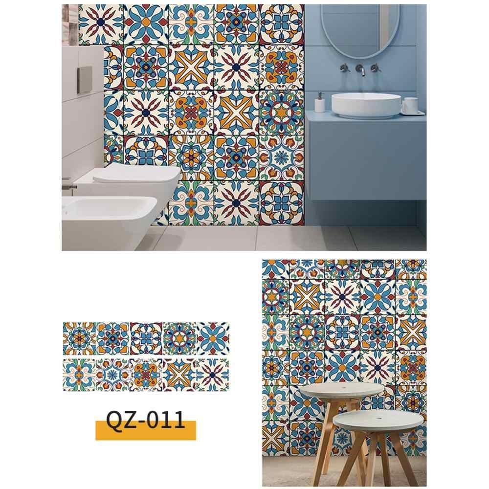 PVCสติกเกอร์วอลล์เปเปอร์กันน้ำและน้ำมันSelf-กาวSplash-Proofสำหรับห้องครัวห้องน้ำ