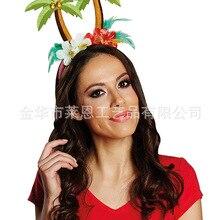 Стиль карнавальный костюм женские аксессуары для волос повязка кокосовое аксессуары, ленты для волос изделия для праздника