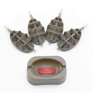 Durable Multiple Size Tools Mold Accessories Outdoor Sturdy Flat Method Inline Feeder Carp Fishing Bait Thrower Portable