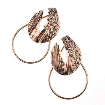 Trendy Earrings Geometric Metal Round Circle Earrings Simple Leaf Big Dangle Drop Earring for Women Fashion Statement Jewelry