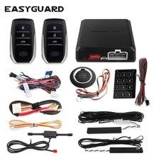 EASYGUARD pke бесключевая система запуска, дистанционный центральный замок, система запуска двигателя, автосигнализация, дистанционный запуск