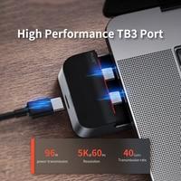 Baseus USB C HUB to HDMI-compatible USB 3.0 USB HUB for MacBook Pro TB 3 USB Splitter Combined RJ45 Holder 9 in 1 Type C HUB
