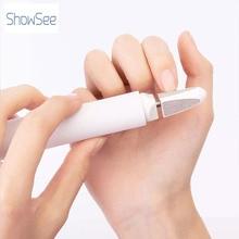 Showsee elétrica aparador de unhas máquina de cortar unhas bebê seguro manicure cortador manicure pedicure scissor cuidados com as unhas ferramenta de polimento